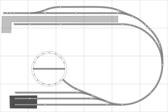 00 n gauge track