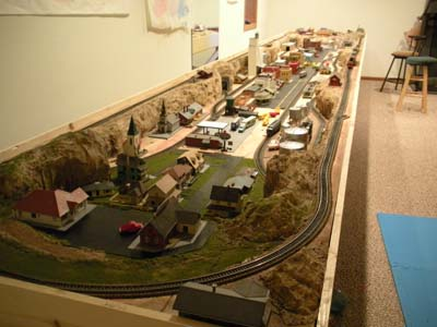 railroad layout and scenery