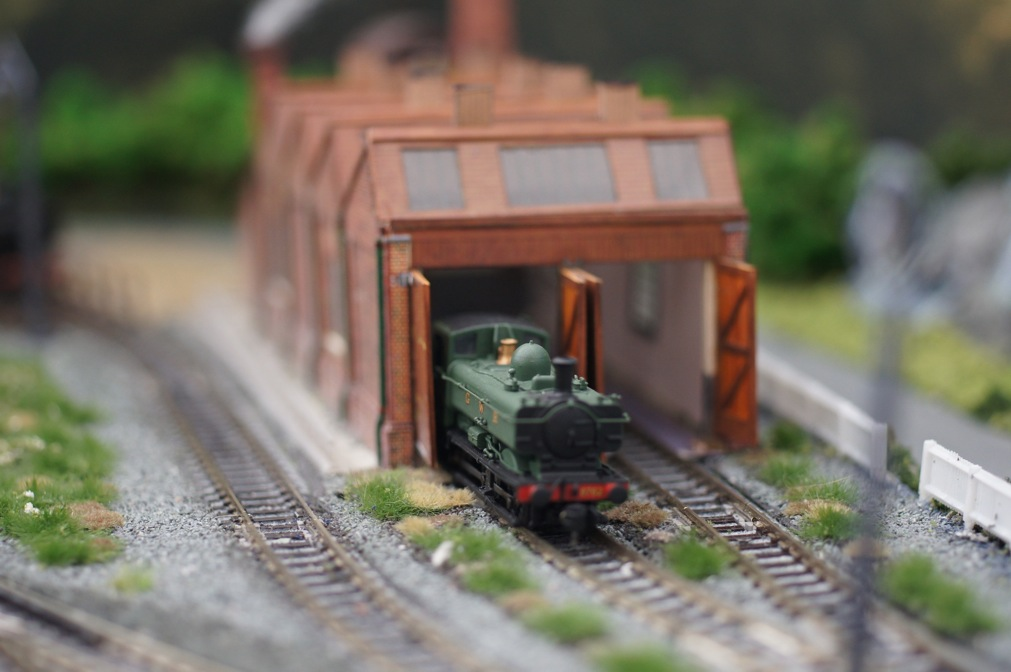 GWR Pannier at shed