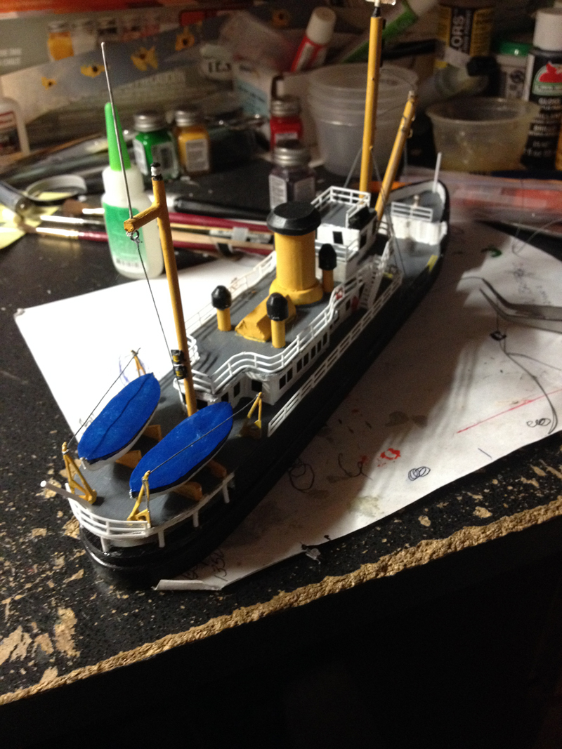John's scratch built tug boat - Model railroad layouts ...