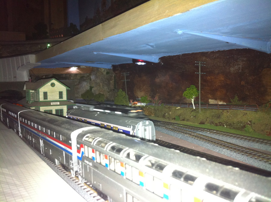 model railroad shelf layout