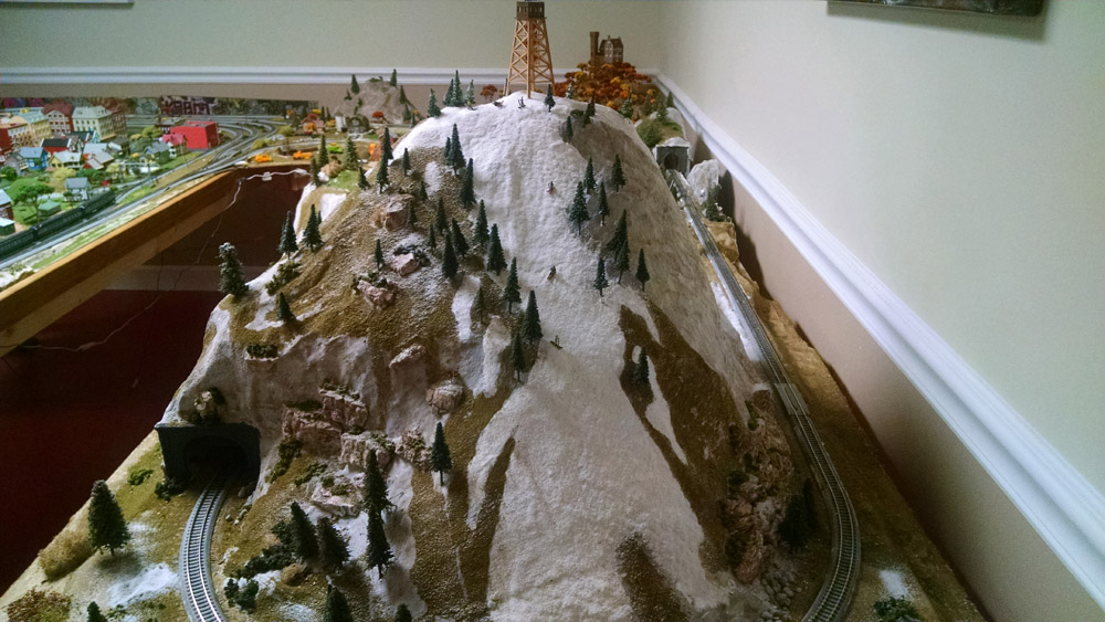 model railroad winter