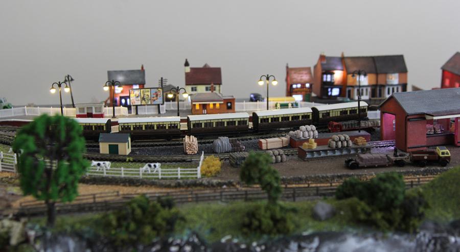 scenery model train