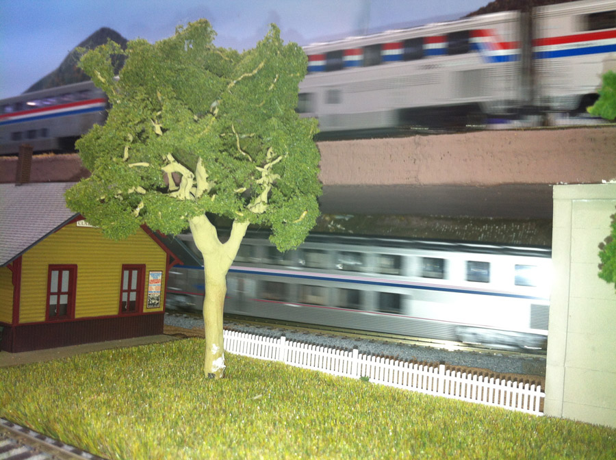 train layout scenery