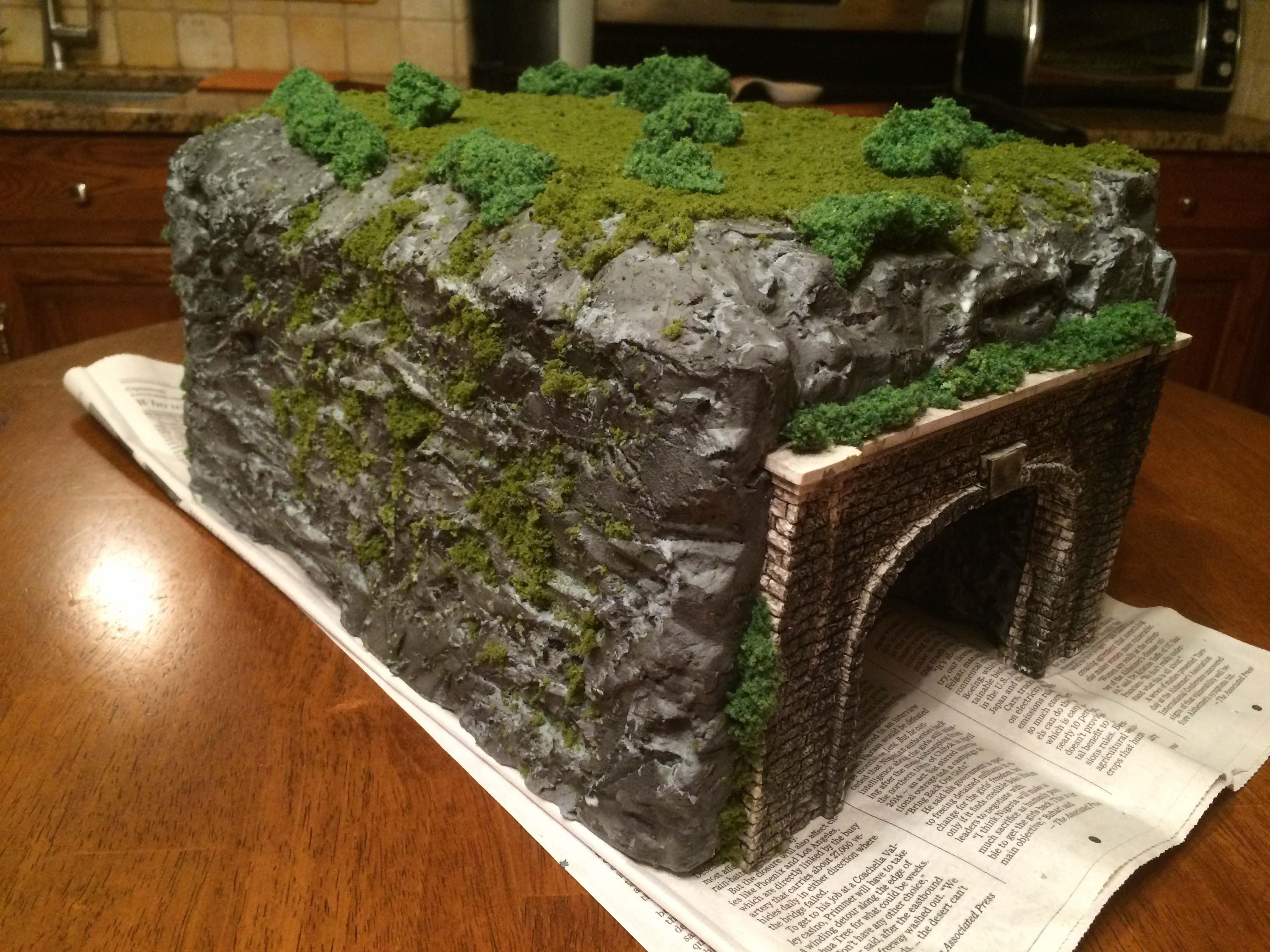 model railroad tunnel