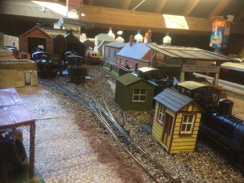 model train engine shed