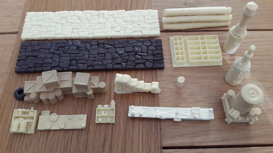 model train scenery mold b