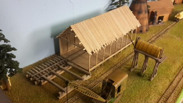 Brian adds a sawmill to his layout - Model railroad layouts