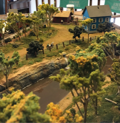 rural scene for model steam train