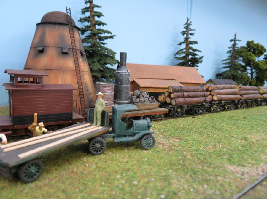 Brian S Double Deck Logging Layout Model Railroad