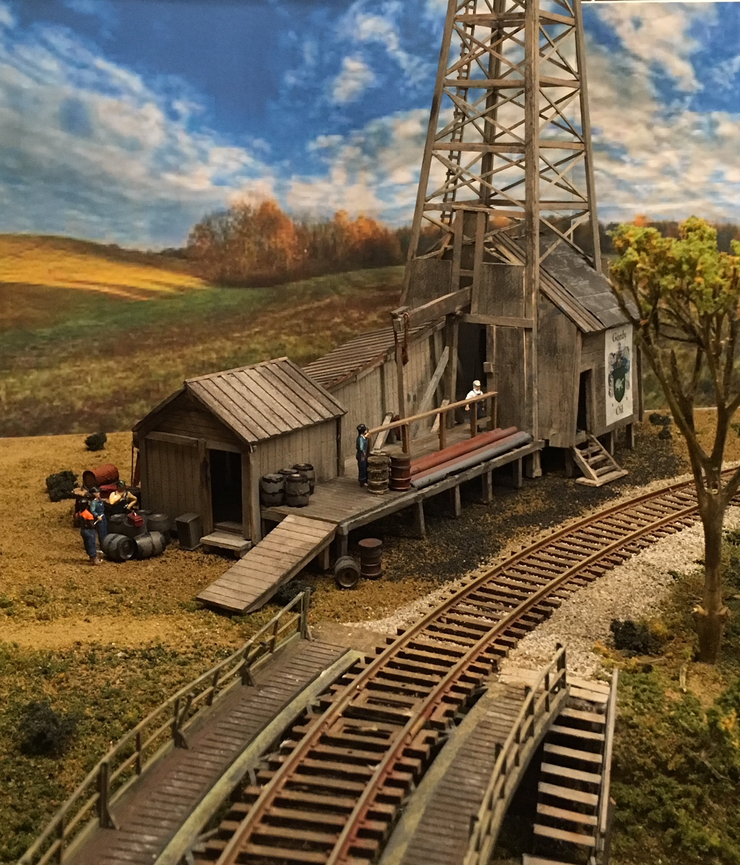 HO scale 4x8 model railroad