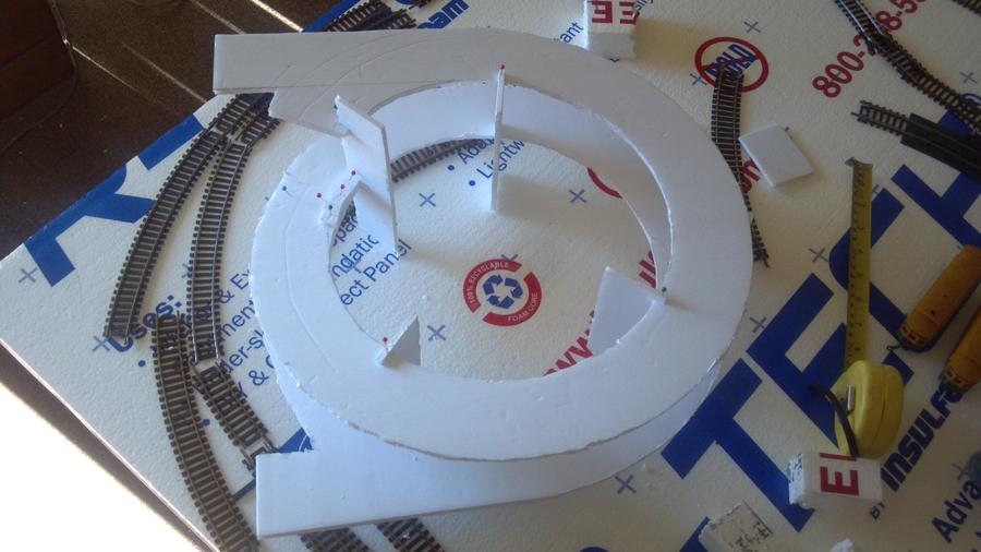 Ho elipse helix prototype track layout