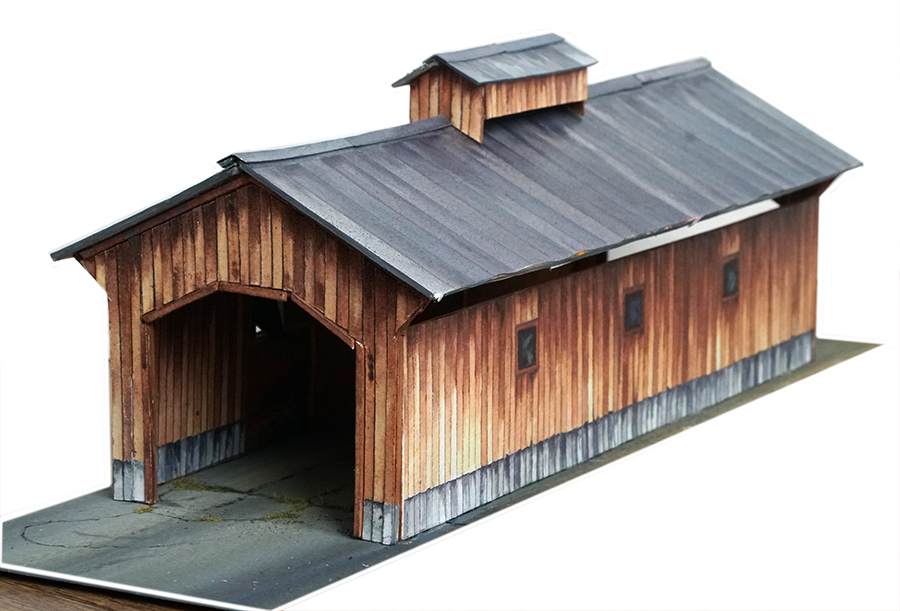 model railroad printable scenery