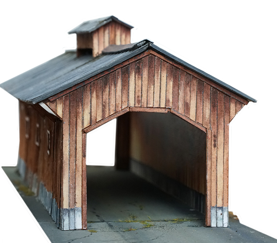 wooden bridge printable scenery