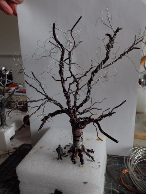 model railroad tree from wire