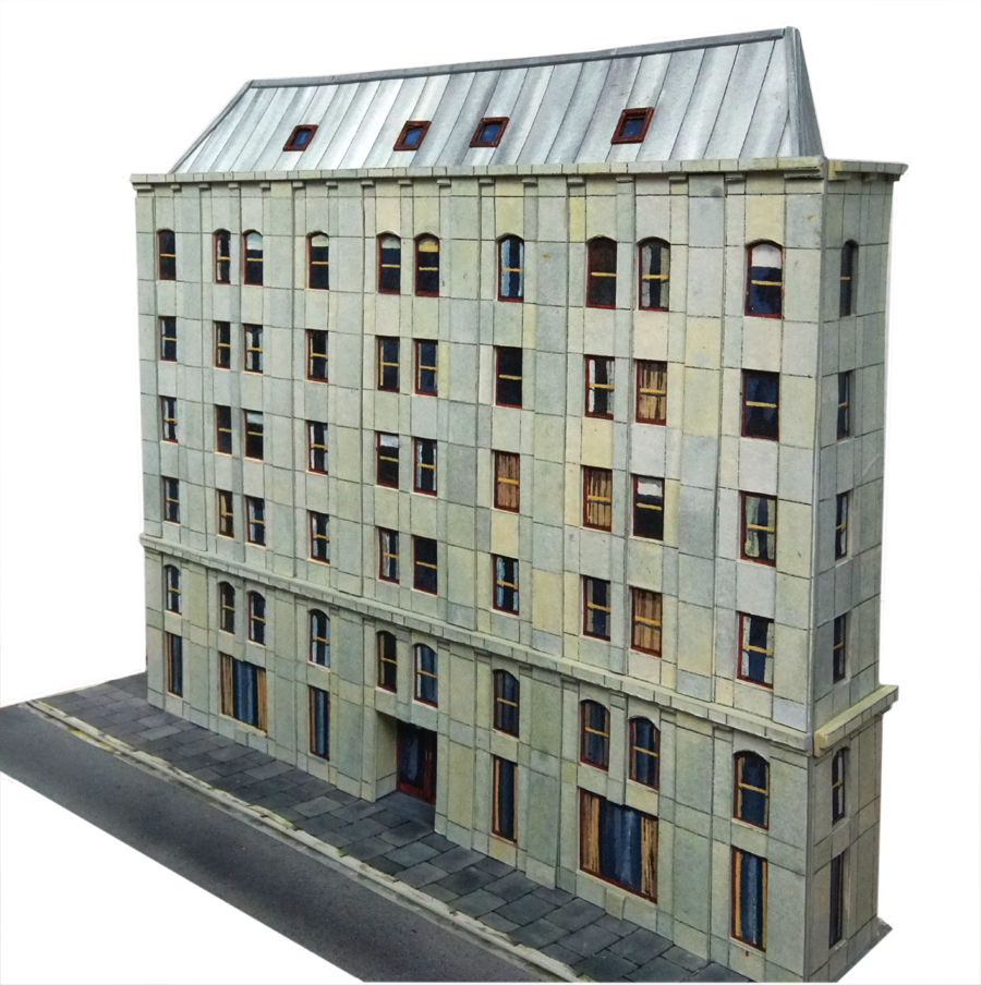 printable city building for model railroad