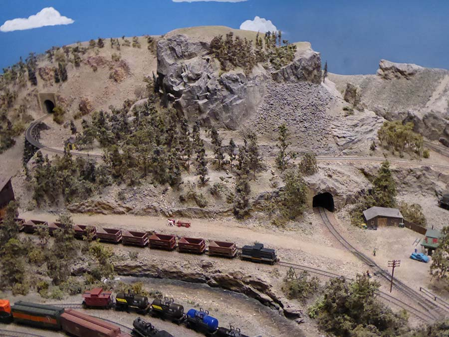 mountain model train