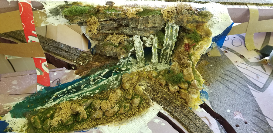 N gauge waterfall