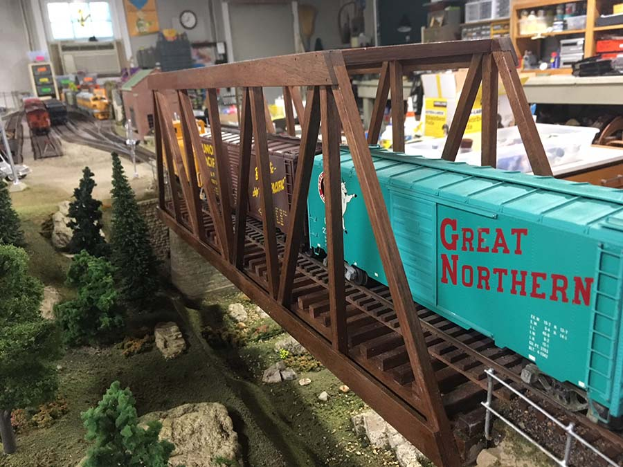 o scale girder bridge