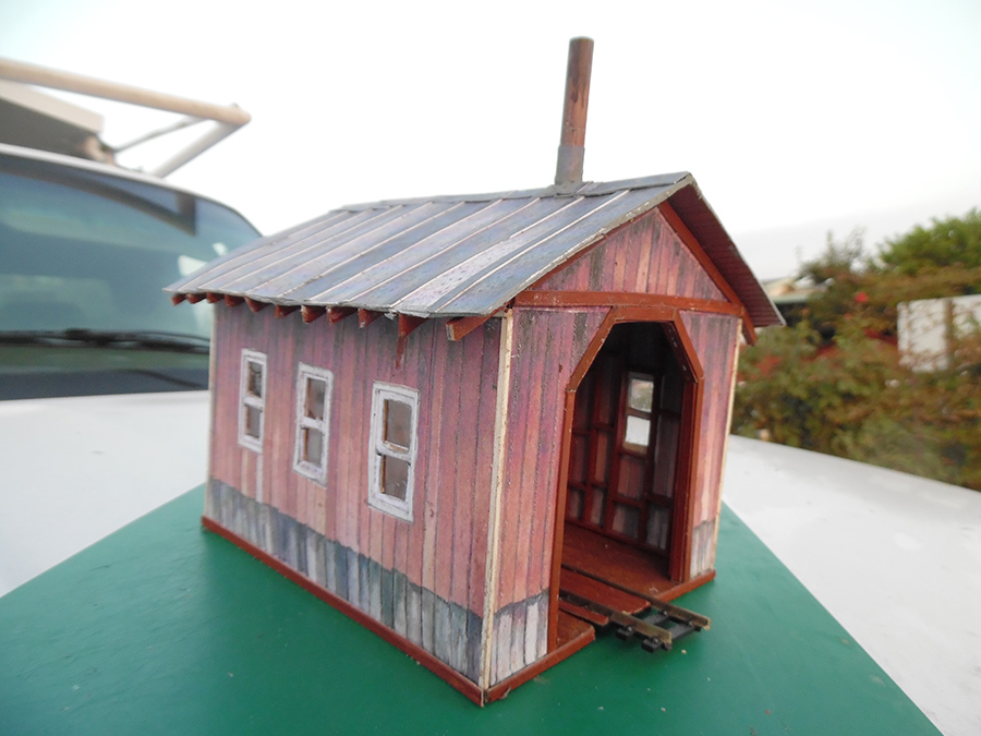 scratch built engine shed