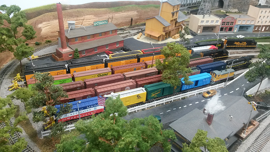 model train shunting yard
