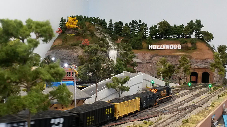 model train freight yard
