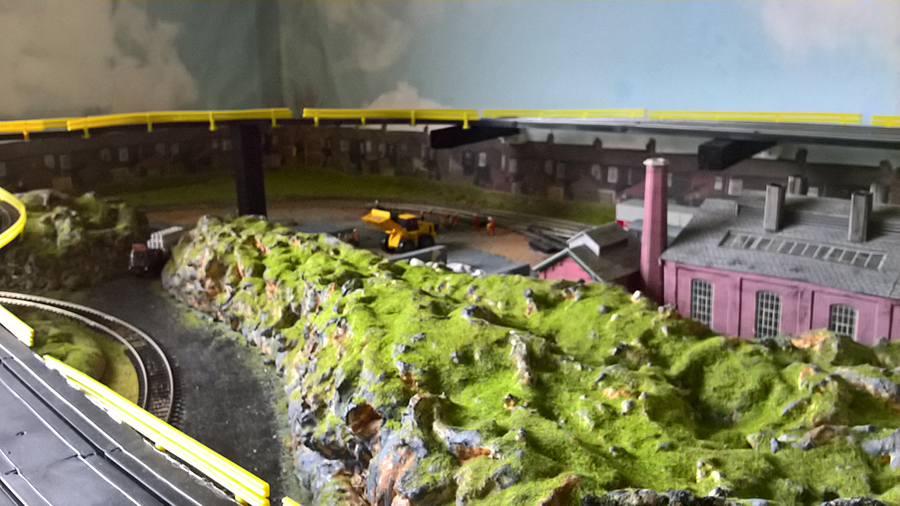 HO model train layout