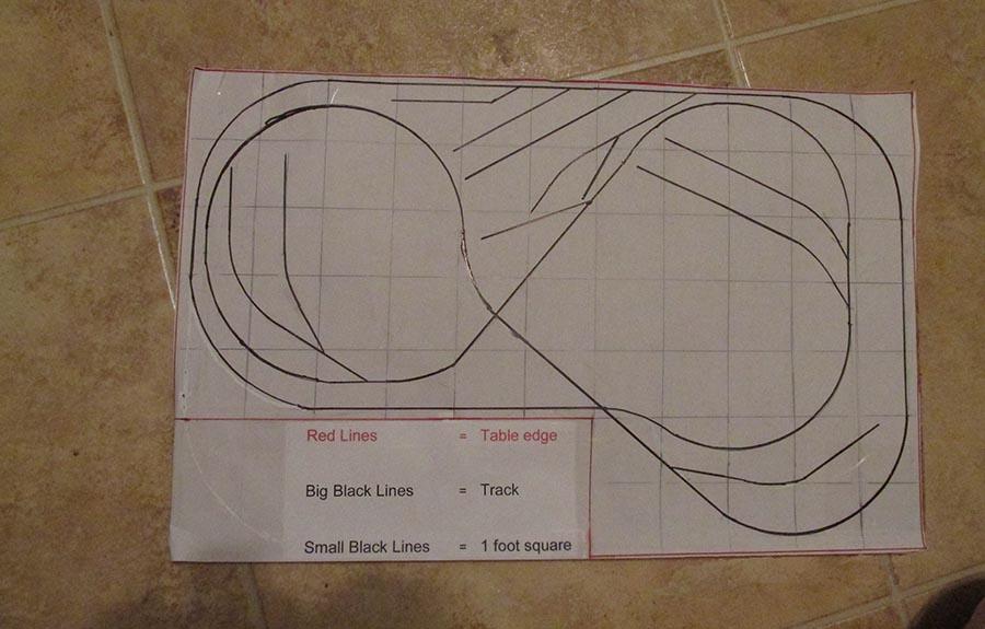 HO scale model railroad track plan