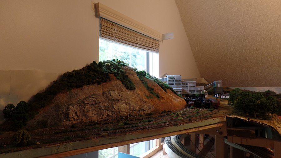 model railroad mountain mine
