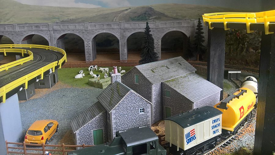 HO scale model train freight