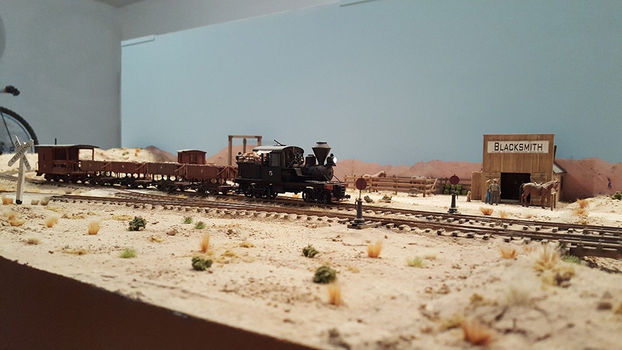 model train mining layout