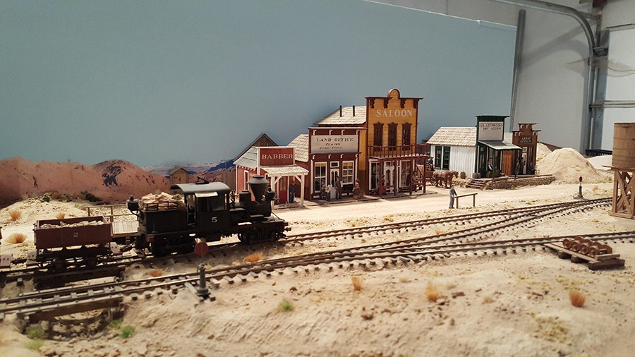 model railroad mining layout