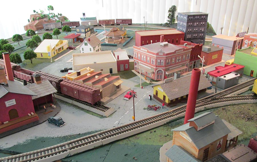HO scale town
