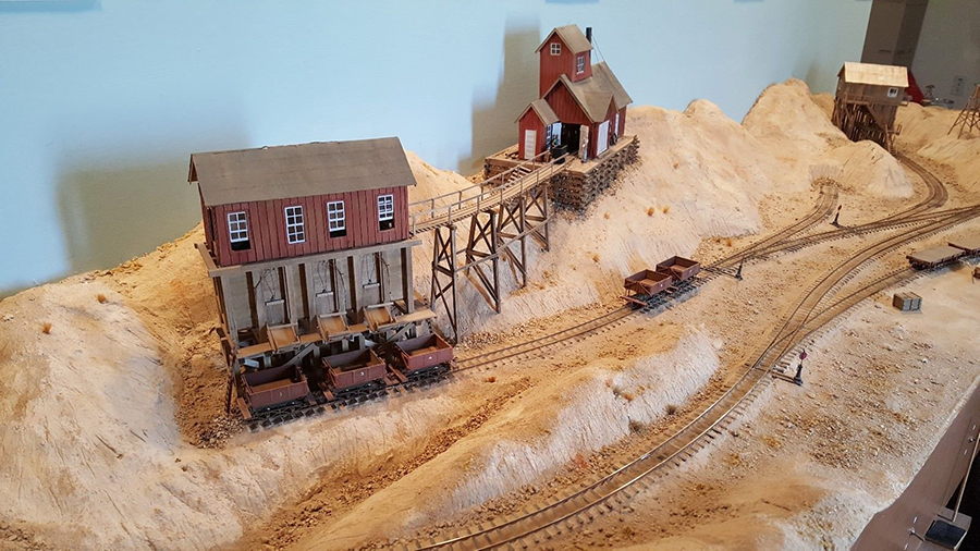 model railroad on30 old mining layout