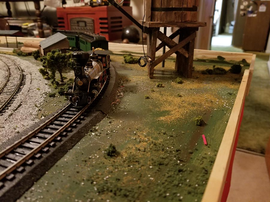HO model railroad siding