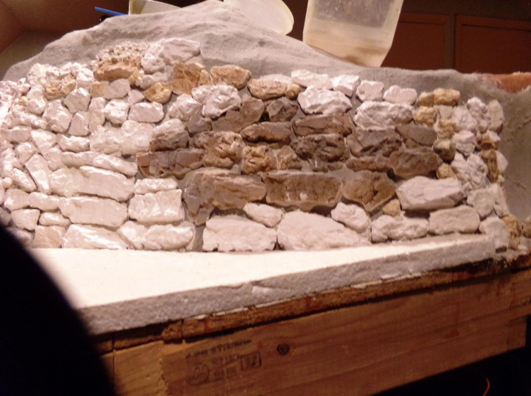 model railroad stone wall