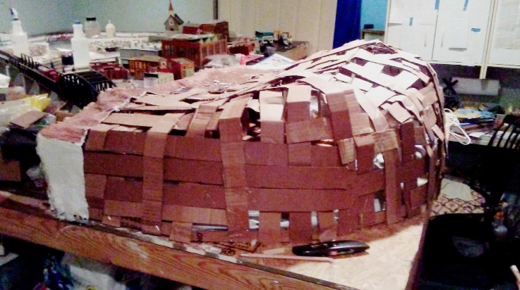 mountain cardboard layout