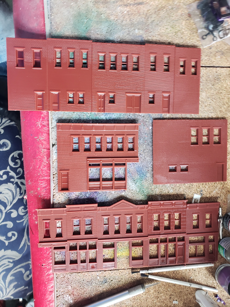 HO scale building pack