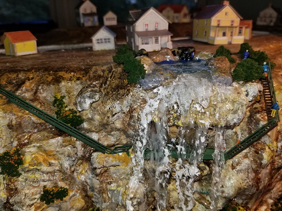 n scale waterfall