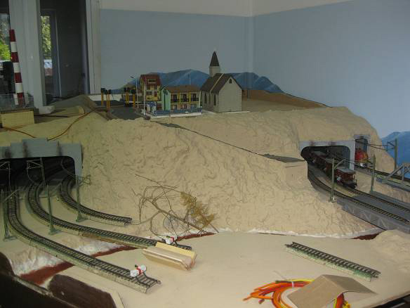model railroad corner