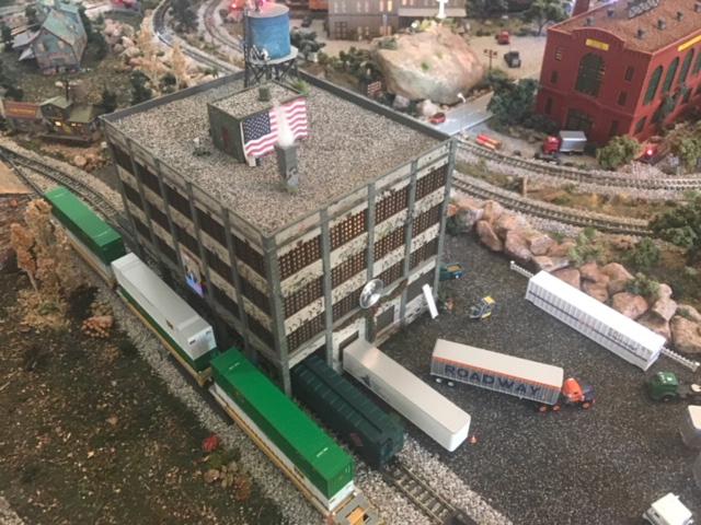 N scale model railroad factory