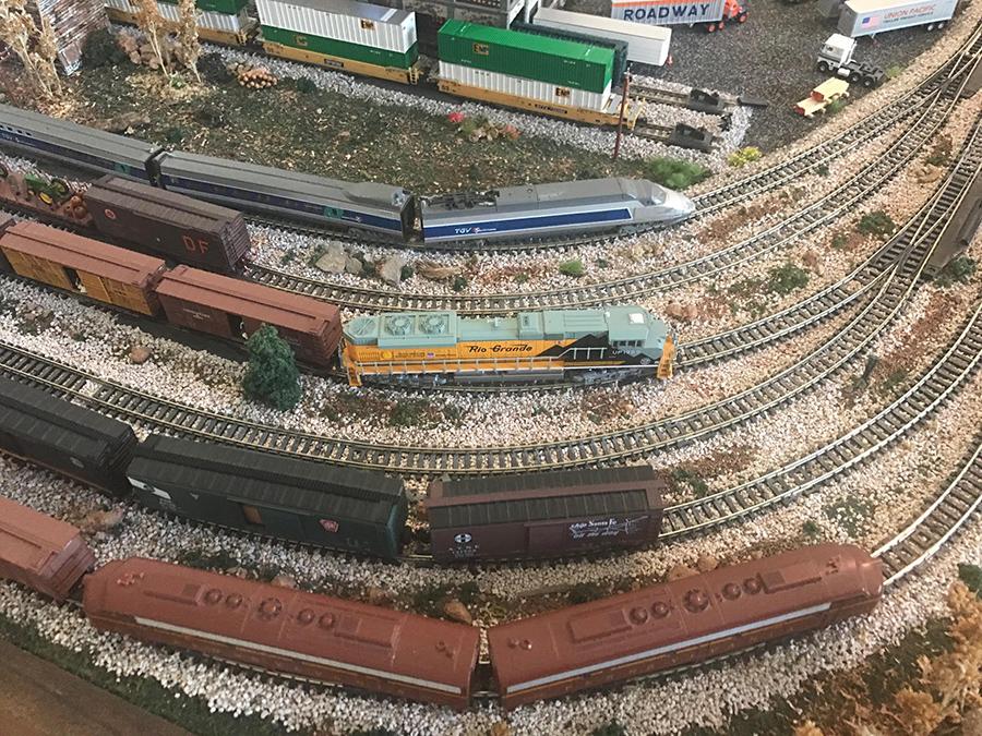 model train freight yard