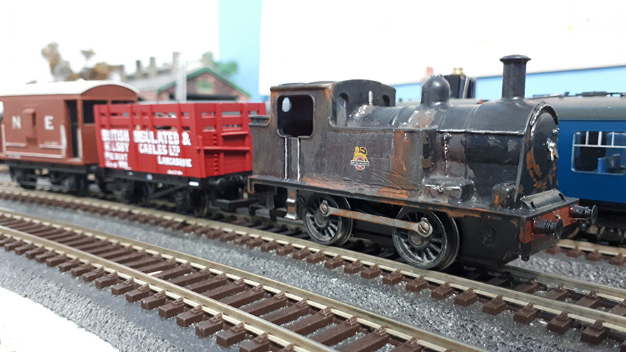 weathered model train