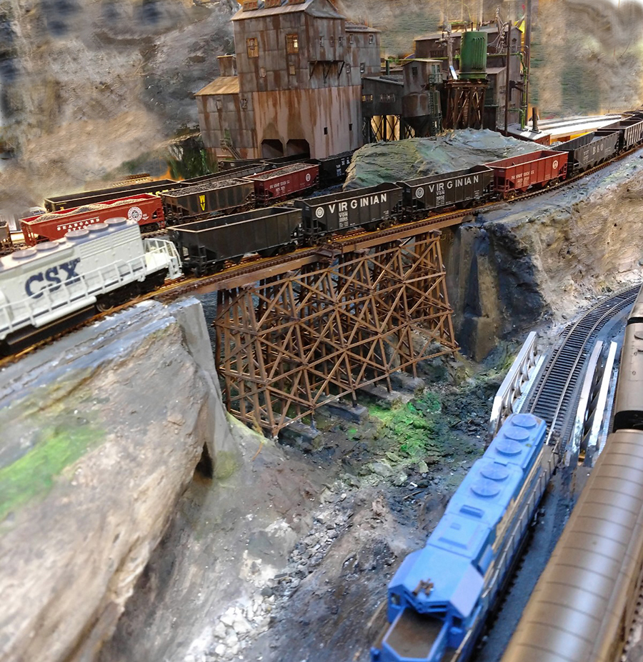trains and mine