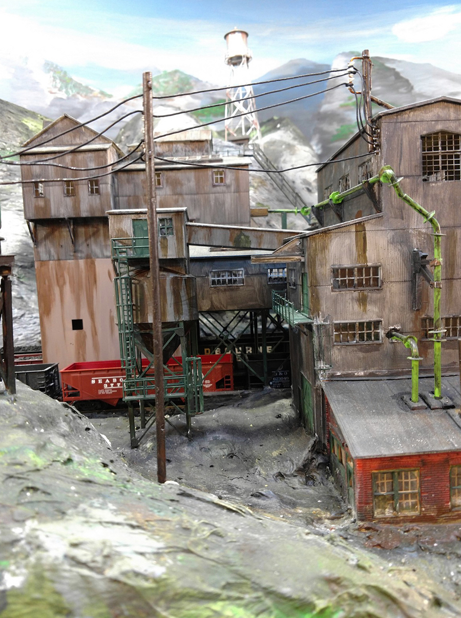 model railroad mine