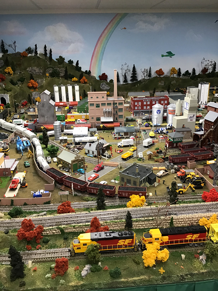 model railroad industrial scene