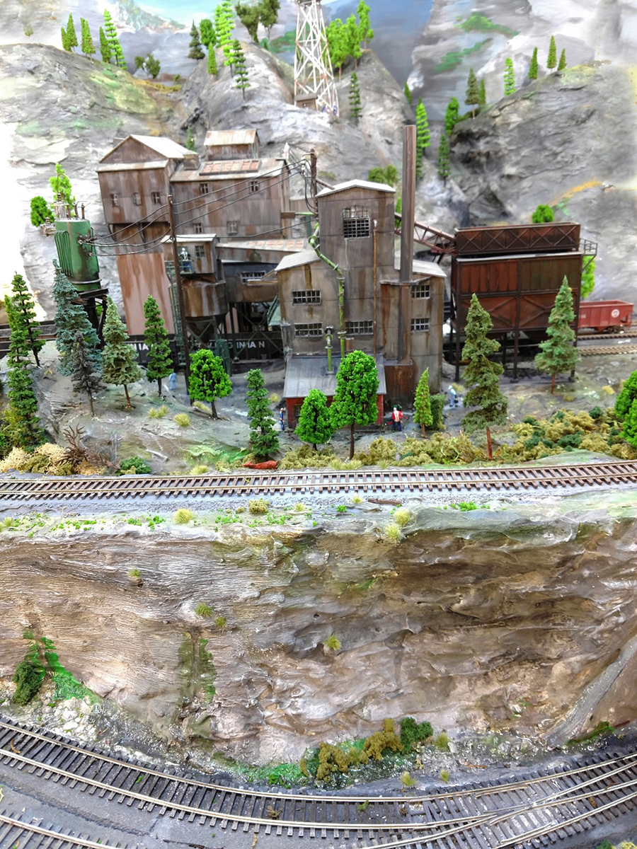 coal mine model train
