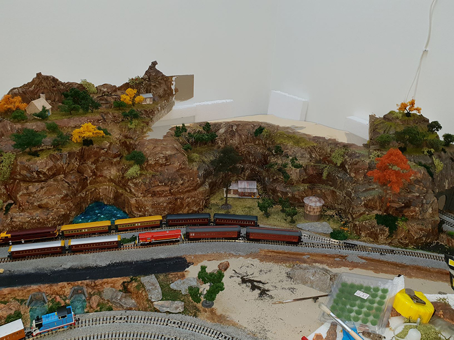 mountain model railroad