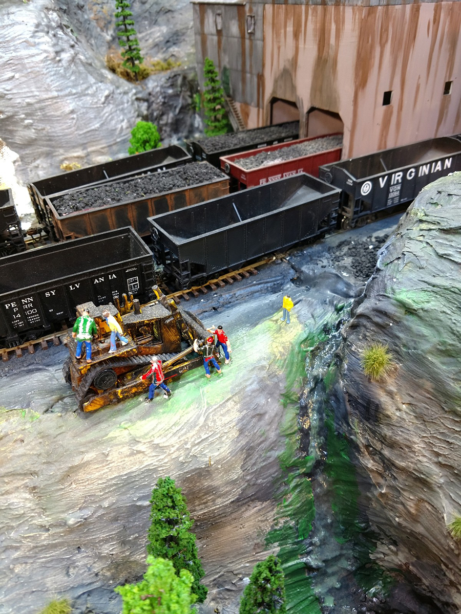 model train bulldozer