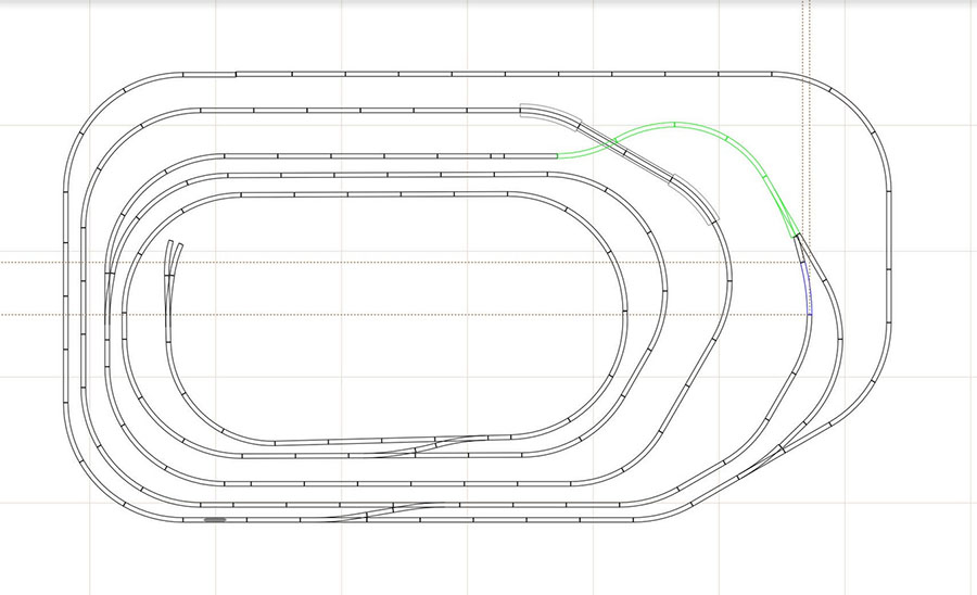 4x7 model railroad track plan